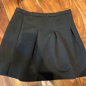 Madewell pleated black skirt